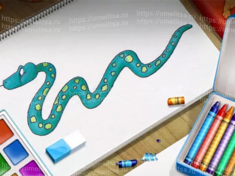 Как нарисовать змею  53c2d38d99a04
